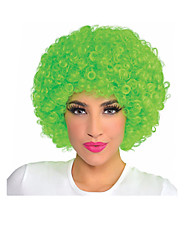 mejor venta de color de alta calidad cosplay ventiladores peluca bulkness verde navidad Halloween peluca