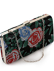 L.WEST®  Women's  Event/Party / Wedding / Evening Bag Flowers Corrugated Diamonds Delicate Handbag