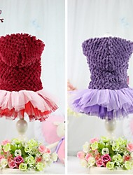 Cat / Dog Coat / Hoodie / Dress Red / Purple Dog Clothes Winter Classic Wedding / Cosplay