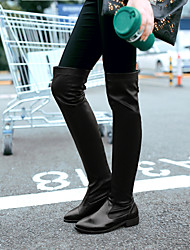 Women's Shoes Leatherette Low Heel Pointed Toe Boots Outdoor / Office & Career / Casual Black / Red / White