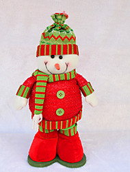 "Christmas Decor 17*30cm/6.7*11.8"" Christmas Decorations Dolls Snowman Flexible Legs Toys Festival Gift"