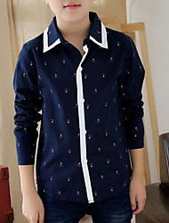 Boy's Cotton Shirt , All Seasons Long Sleeve
