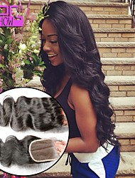 Body Wave Human Hair Closure With Baby Hair 8-20inch Brazilian Hair 4*4 Lace Closure