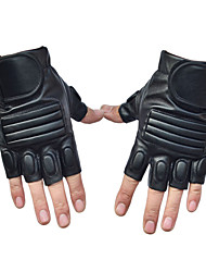 Men's Cycling Gloves Half Finger Anti-Skidding Sport PU Leather Gloves