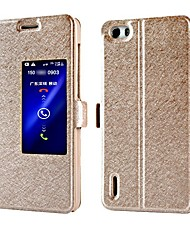 High Quality Silk Texture PU Leather Cover for Huawei Honor 6 (Assorted Colors)