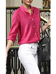 Overhemdkraag - Katoen - Knoop - Vrouwen - Overhemd - Lange mouw