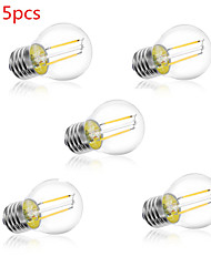 E26/E27 Ampoules Globe LED A60(A19) 2 LED Haute Puissance 250LM lm Blanc Chaud Blanc Froid Décorative AC 100-240 V 5 pièces