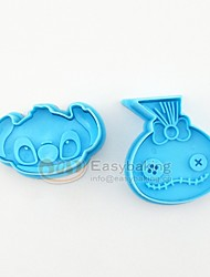 2016 New Cute Cartoon Animal 3D Biscuit Mold  Coraline Cookie Cutters and Stamps