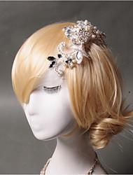 Women's Rhinestone Imitation Pearl Net Headpiece-Wedding Special Occasion Casual Hair Combs 1 Piece