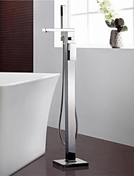 Bathtub Faucet Contemporary Floor Standing Brass Chrome