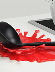 1 PCS Mustard Blood Splash Spoon Rest by Mustard  Kitchen Cooking Aid Cup Holder (Random Color)