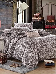 Mingjie® Orchid Feelings Grey Flowers Queen and Twin Size Sanding Bedding Sets 4pcs for Girls and Boys China Wholesale