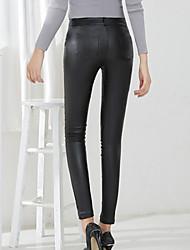 Women PU Pants , Belt Not Included