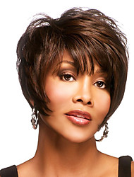 "Attractive Short Wavy 1""Monofilament Top  Human Hair Capless Virgin Remy Woman's Wig"