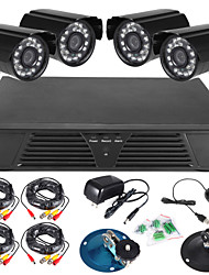 8ch pieno 960H dvr e 4pcs 600TVLine all'aperto telecamere day / night