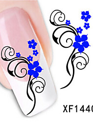 1 PCS 3D Water Transfer Printing Nail Stickers XF1440