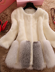 Women Faux Fur Top , Lined Imitation fur coat in long fur coat new Winter clothing