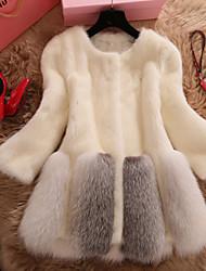 Women Faux Fur Top , Lined Imitation fur coat in long fur coat new Winter clothing