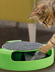 Cat Pet Toys Interactive / Mouse Toy Track / Mouse Green Plastic