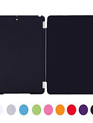 natusun ™ pan solide de couleur pc amd pu étui en cuir avec loisirs ultra-mince pour iPad air / ipad 5 (couleurs assorties)