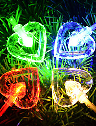 Double Love Christmas Lights String Of Waterproof Decorative Light String L 10M PVC 100 Led 220V 6W