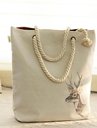 Women's New Christmas Reindeer Canvas Handbag