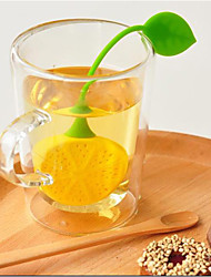 Creative Lemon Shape Silicone Tea Filter (Color Random)