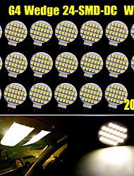 20x Warm White G4 24 SMD LED Home Garden Marine Boat Spot Light Bulbs DC 12V US