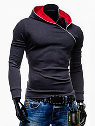 Manteaux & Vestes ( Acrylique / Coton / Coton biologique ) Informel / Travail Sweat à capuche à Manches longues pour Homme