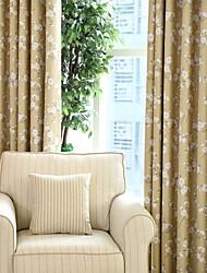 dos paneles KAPOK cortinas opacas cortinas de flores