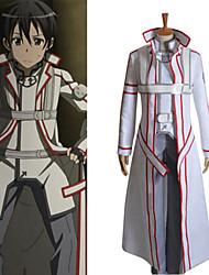 Sword Art Online I Kirito Cross Knight White Uniform Cosplay Costume