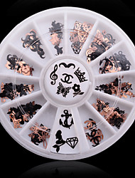 1Box 240PCS  Soft Metal Nail Art Decorations Kits