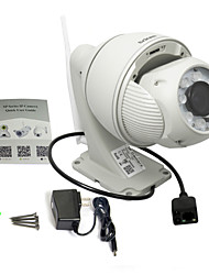 Sricam® Wireless H.264 P2P Megapixel 720P PTZ IR Dome IP Camera AP004 with 5x Optical Zoom