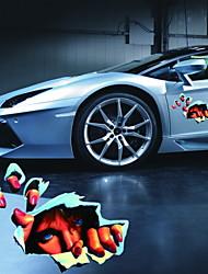 adesivi per auto adesivi 3d occhio di simulazione tridimensionale