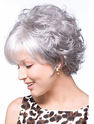 Gray Short  Syntheic  Wave  Wig Extensions  Charming