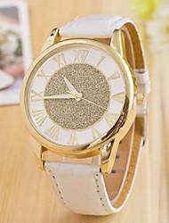 L.WEST Fashion High-end Diamonds Roman Calibration Frosted Quartz Watch Cool Watches Unique Watches