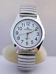 Hombre Reloj de Pulsera Cuarzo Acero Inoxidable Banda Plata