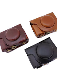 dengpin pu cámara de cuero cubierta de la bolsa caso de la correa de hombro para Olympus SH-2 sh-1 (colores surtidos)