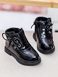Zapatos de bebé - Botas - Exterior / Vestido / Casual - Semicuero - Negro / Rojo