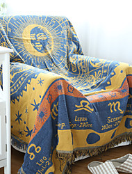 Tissé Jaune Personnages 100% Coton couvertures 180*130