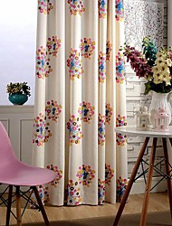 Two Panel Modern Colorful Circle  Embroidered  Cotton Energy Saving Curtains Drapes