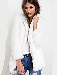 Women Winter Faux Fur Top Fur Coat