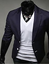 Blazer Pour des hommes Normal Manches longues Couleur plaine Coton Organique