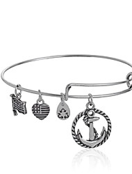 Anchor Expandable Wire Bangle Bracelet (Internal Diameter :65mm)