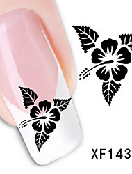 1 PCS 3D Water Transfer Printing Nail Stickers XF1437