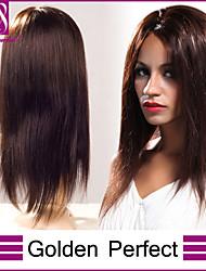 14inch 24inch-100% бразильские Remy человеческих волос шелковистые прямые полные парики шнурка L101