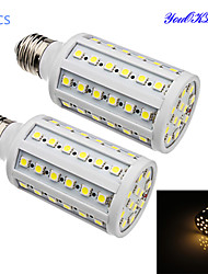 YouOKLight® 2PCS E27 15W 1200lm CRI>80 3000K 60*SMD5050 LED Light Superior quality/Long life Corn Bulb (AC200-265V)
