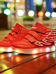 Girl and Boy's LED shoes Spring / Summer / Fall / Winter Novelty Leather Casual Flat Heel Hook & Loop