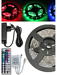 5M 150X5050 SMD RGB LED Strip Light and 44Key Remote Controller and 3A US EU UK AU Power Supply (AC110-240V)