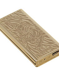 "Personality Originality Charging Lighter Ultra Thin Windproof Electronic Cigarette Lighter Metal Silent ""Tiger"""